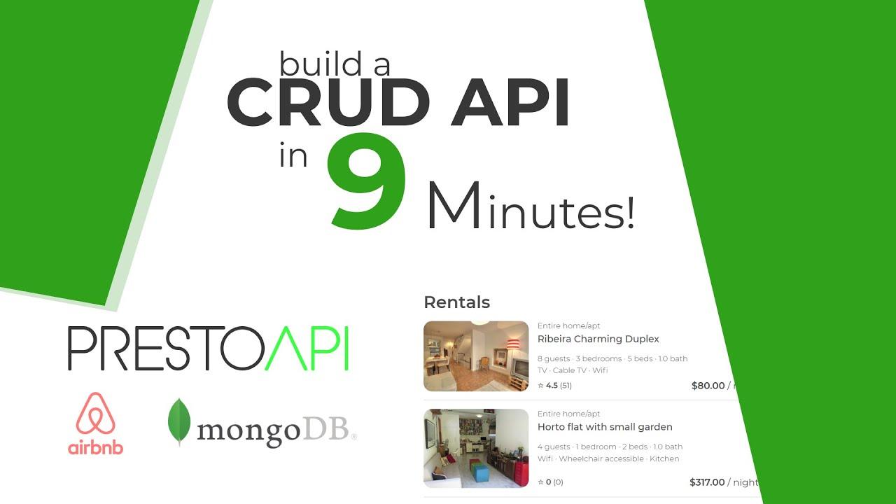 SPEED RUN: Build a CRUD API with PrestoAPI & MongoDB Atlas in 9 Minutes! Then Airbnb Clone!