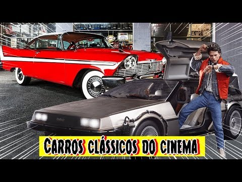 Top 10 CARROS CLÁSSICOS do CINEMA 80s 90s