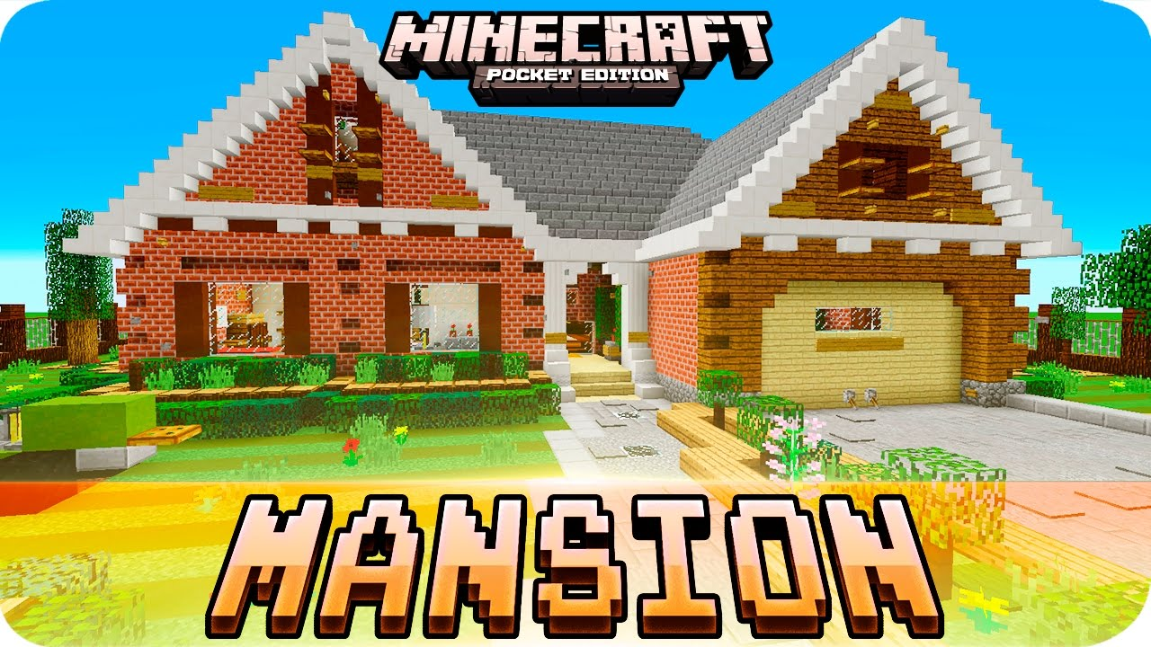 Minecraft pe maps mansion house tour with map download for Modern house minecraft pe 0 12 1