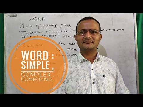 word:-simple,-complex,-compound
