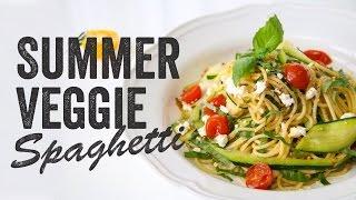Summer Veggie Spaghetti Recipe : Season 3, Ep. 1 - Chef Julie Yoon