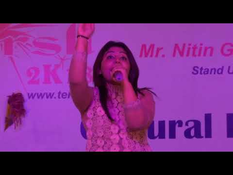 A Musical Eve with Ms. Poornima Sukant during TERii Utkarsh-2k18, the 12th Annual Day