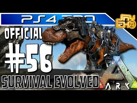 ARK OFFICIAL PVP on PS4 - EP 56 - ALPHA TRIBE DEFENCE WITH TEK GEAR! (TEK REX IS KING!)