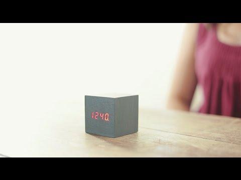 Kikkerland Design - Wood Alarm Clock