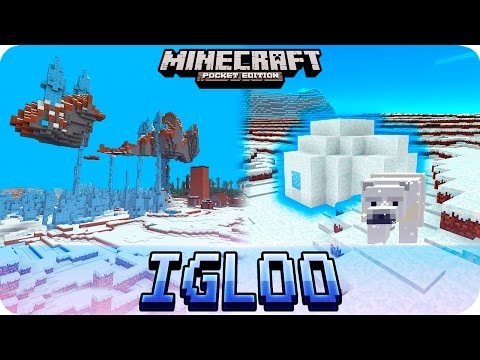 Minecraft PE 1.0 Seeds - 2 IGLOOS, Floating Island and 5 VILLAGES! MCPE 1.0 / 0.17.0 The End Update