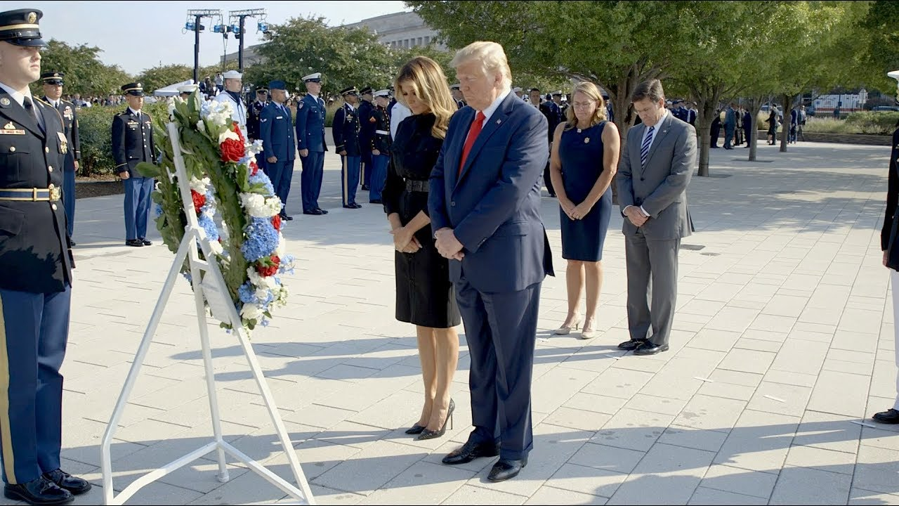 The White House President Trump and the First Lady at the Pentagon National 9/11 Memorial
