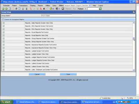 Planet DDS Dental Software Setup - Security - Adding Groups