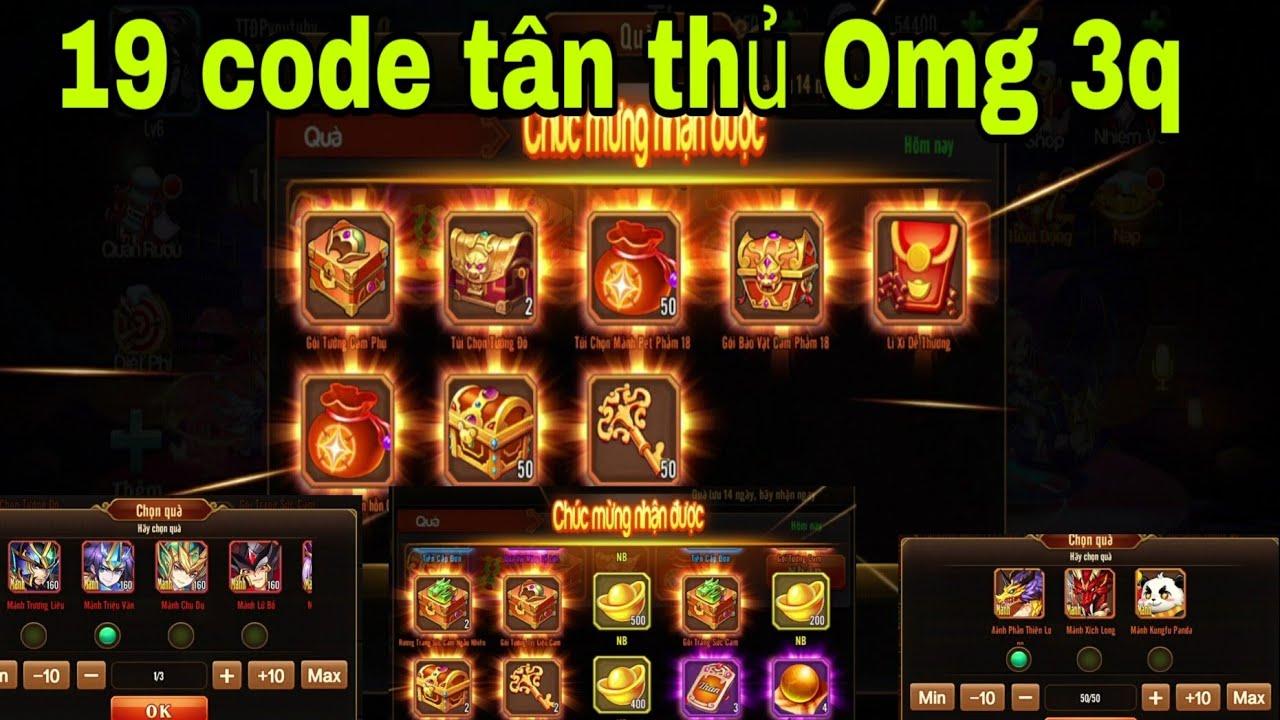 Omg 3q 19 code tân thủ mới nhất game omg 3q dùng được ttđp