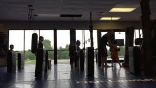 The kids first Karate class