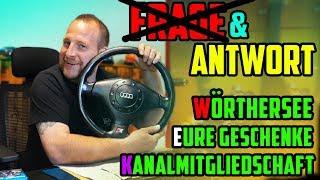 Diesmal nur ANTWORTEN! - Themen: Wörthersee / Eure Geschenke / Kanalmitgliedschaft