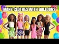 DIY How to make clothes with balloons for Barbie