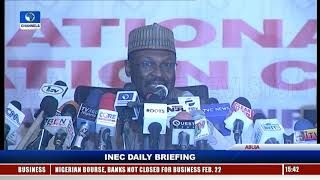Election Briefing: INEC Chairman Fields Questions From Journalists, Election Observers |Line Event|