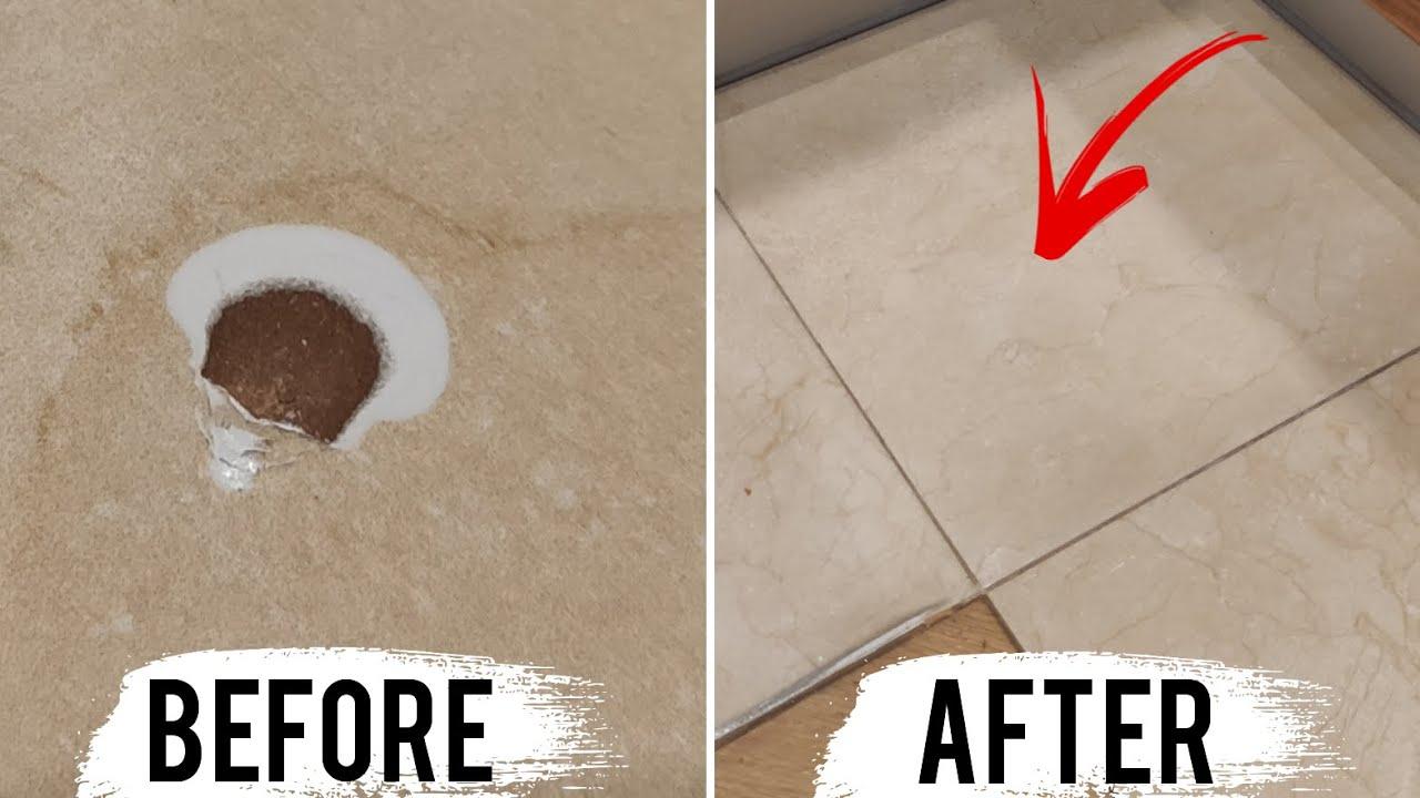 repair a chipped ceramic tile
