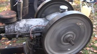 ANTIQUE DIESEL WITTE ENGINE COLD START