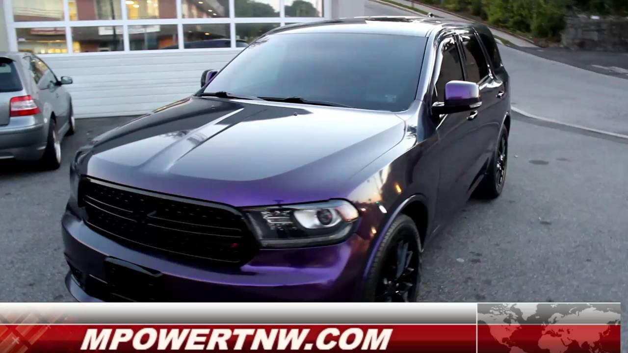 Dodge Durando Wrapped In Gloss Purple Black Youtube