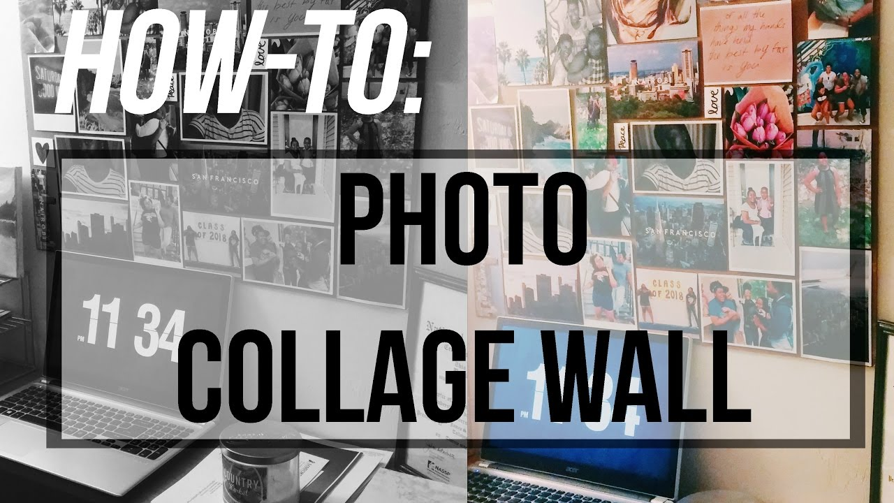 Collage Wall Art how-to: photo collage wall art - youtube
