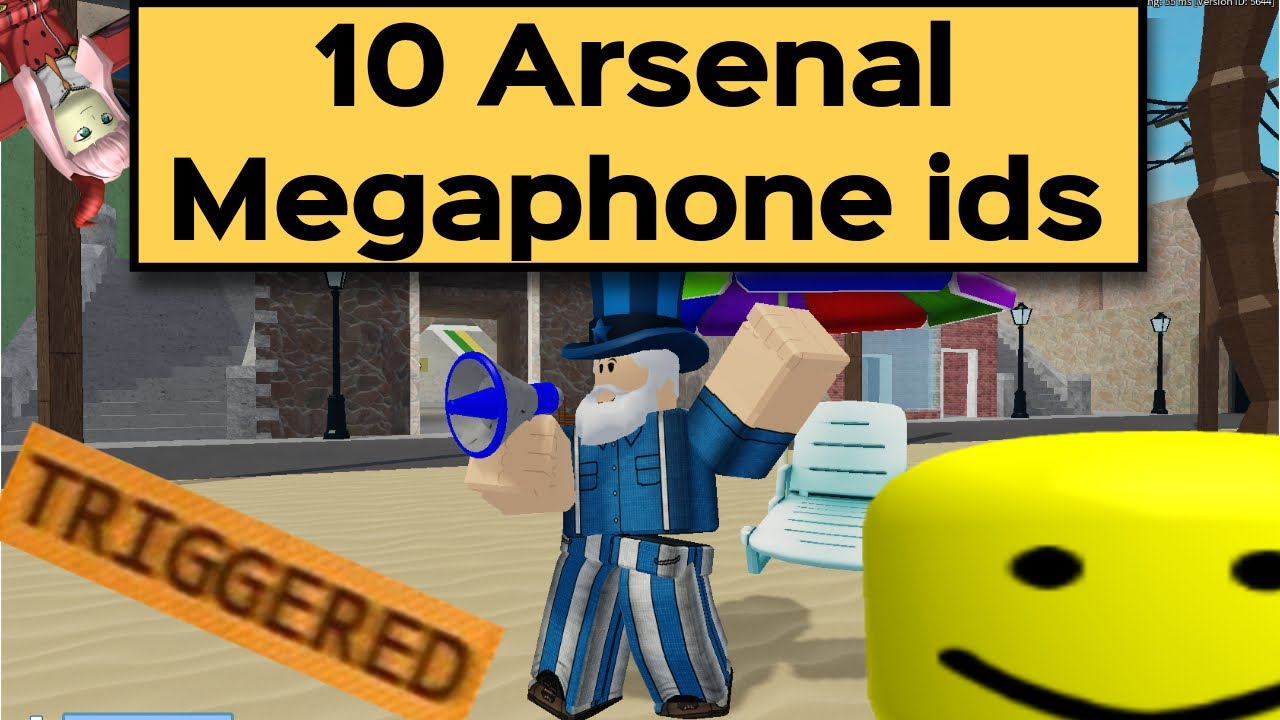10 ROBLOX Arsenal Megaphone Ids/Codes *2020* YouTube