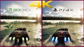 [4K] The Crew 2 XBox One x vs PS4 Pro | Split Screen Comparison