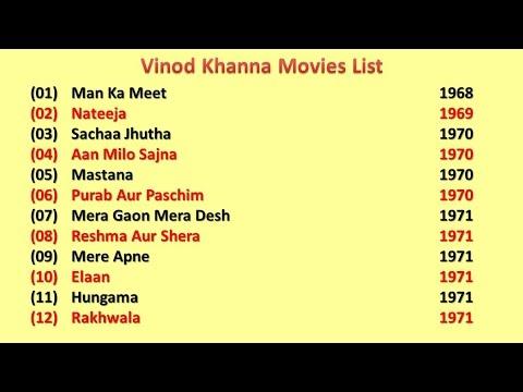 Vinod Khanna Movies List