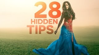 28 Powerful Hidden Tips, Tricks, & Features!- PHOTOSHOP  | Tutorial