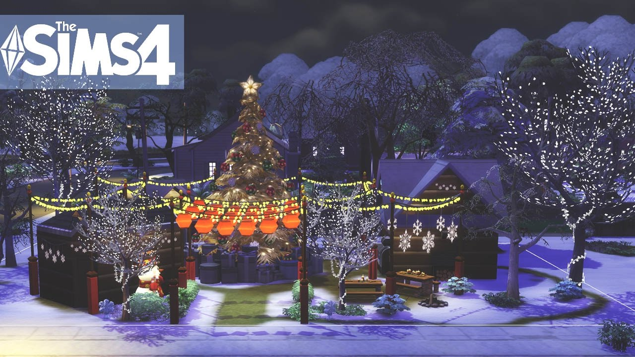 The Sims 4 Speed build - Christmas Time #10 - YouTube