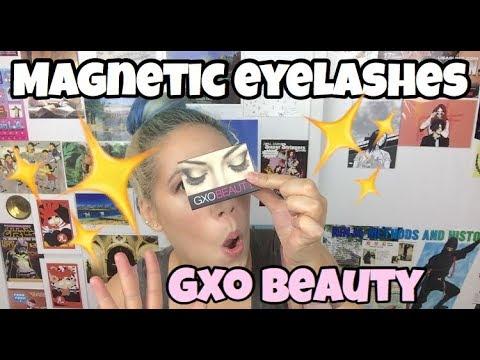 e4860cc557d GXO Beauty Magnetic False Eyelashes - YouTube