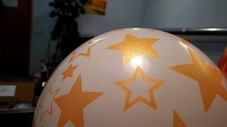Печать на шарах золотой искрящейся краской(, 2016-12-31T15:06:13.000Z)