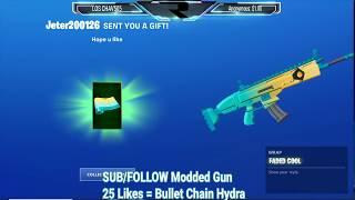 Fortnite SAVE THE WORLD GIVEAWAY BULLET CHAIN HYDRAS | Win Iconic, Vbucks