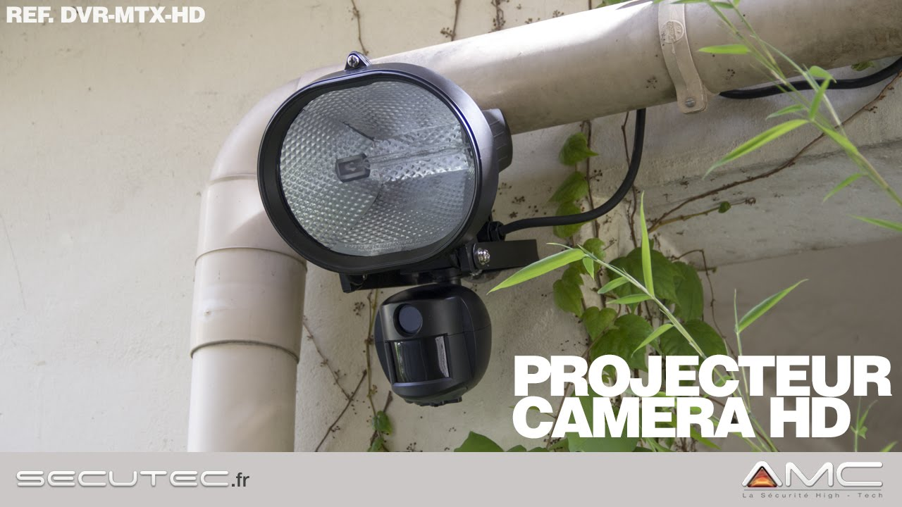 Camera Exterieur Discrete Projecteur Exterieur Avec Camera A Detection De Mouvement Secutec Fr