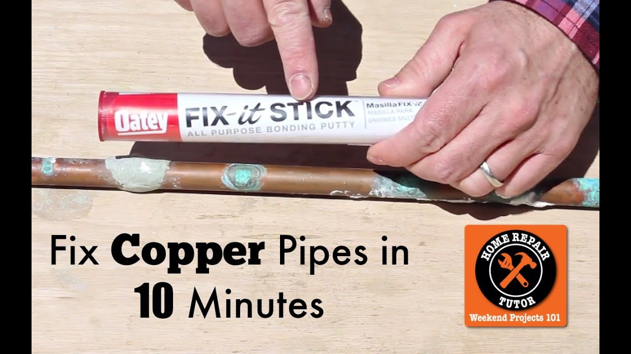 How To Fix A Pinhole Leak In A Copper Pipe By Home