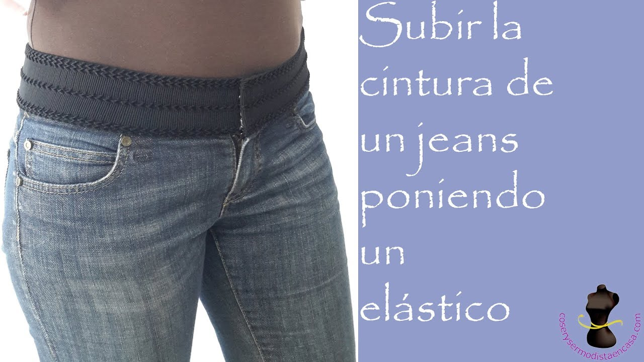 6bb3925127e How to raise the waist of a low-rise jeans with an elastic band