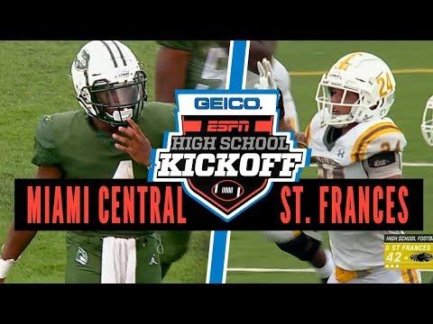 St. Frances Academy (MD) Vs. Miami Central (FL) Football - ESPN Broadcast Highlights