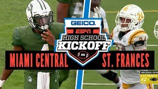 St. Frances Academy (MD) vs. Miami Central (FL) Football - ESPN Broadcast Highlights