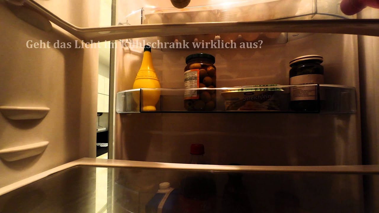 Kühlschrank Licht : Geht das licht im kühlschrank wirklich aus youtube