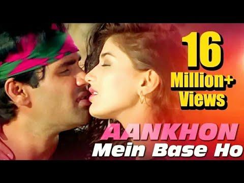 Aankhon Mein Base Ho Tum (Duet) - Sunil Shetty - Sonali Bendre - Takkar - Bollywood Songs