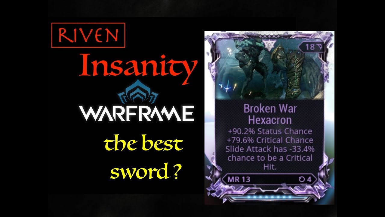 Riven Insanity Broken War Atlass Build Youtube