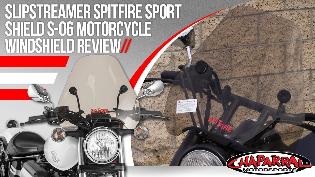 Slipstreamer Spitfire Sport Shield S-06  Motorcycle Windshield Review