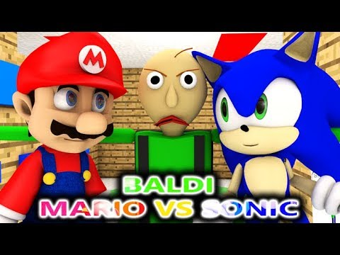 BALDI'S BASICS VS SUPER MARIO & SONIC! THE MOVIE! (Official) Baldi Minecraft Animation Horror Game