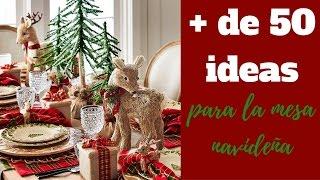 Mesa NavideÑa | Más De 50 Ideas!!!