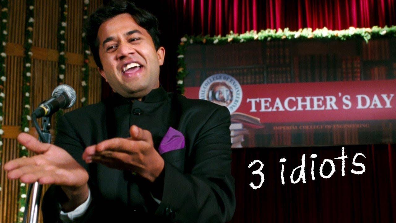 Chatur's Comedy Speech | 3 Idiots | Omi Vaidya, Aamir Khan, R. Madhavan, Sharman Joshi