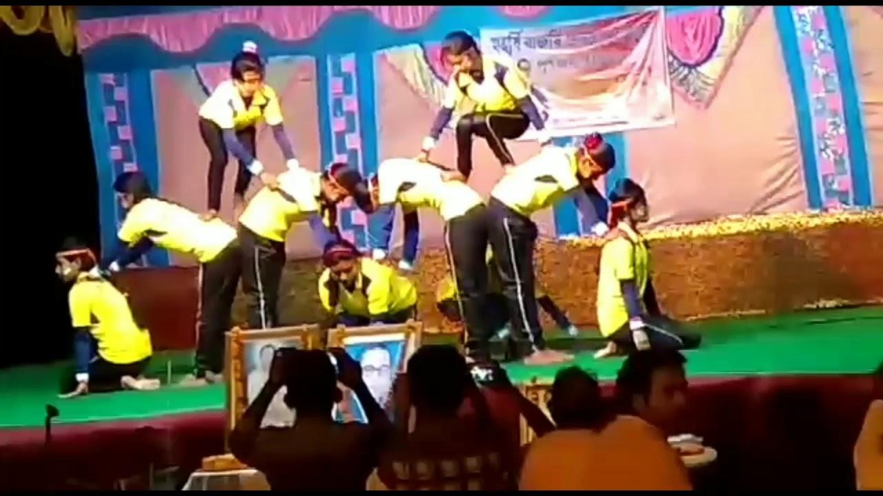 Humans Pyramid Gymnastics:-Boys Vs Girls  Annual club program:-2018   Dr B R Ambedkar club