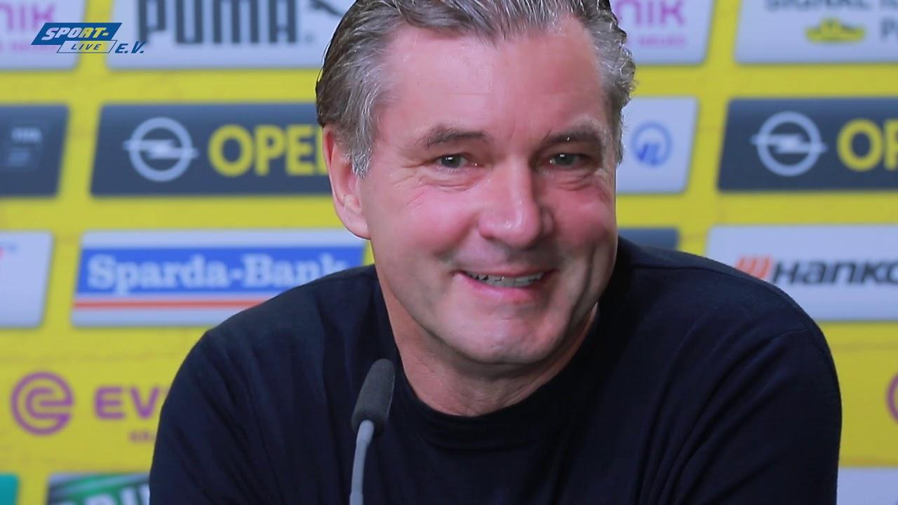 BVB-PK mit Favre und Zorc vor dem Bremen-Spiel