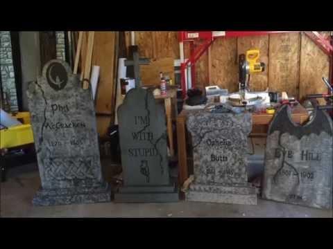 Halloween tombstones for beginners tutorial DIY how to
