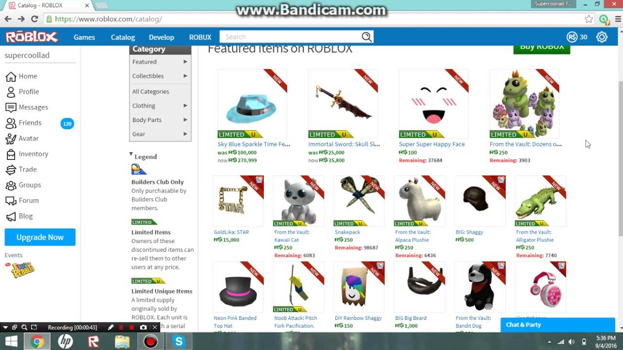 Roblox The Catalog Is Full Of Limited Items Youtube - try the catalog roblox