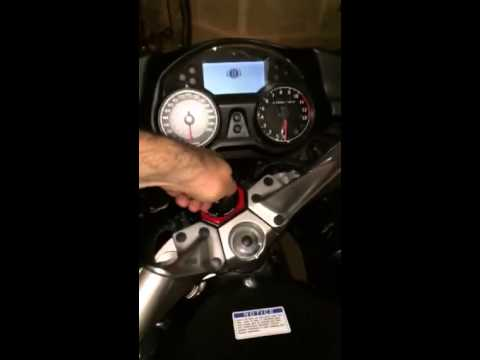 Kawasaki Concours 14 using key emergency fob