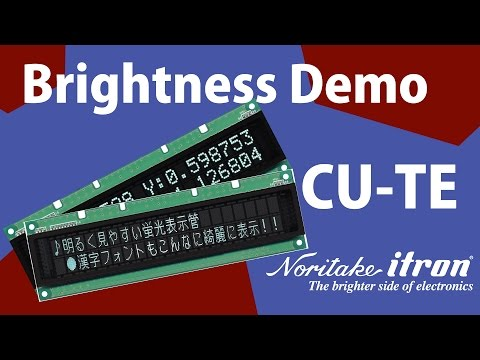 Noritake VFD: CU-TE High Brightness Demo - Simplified Chinese International Fonts for Windows POS