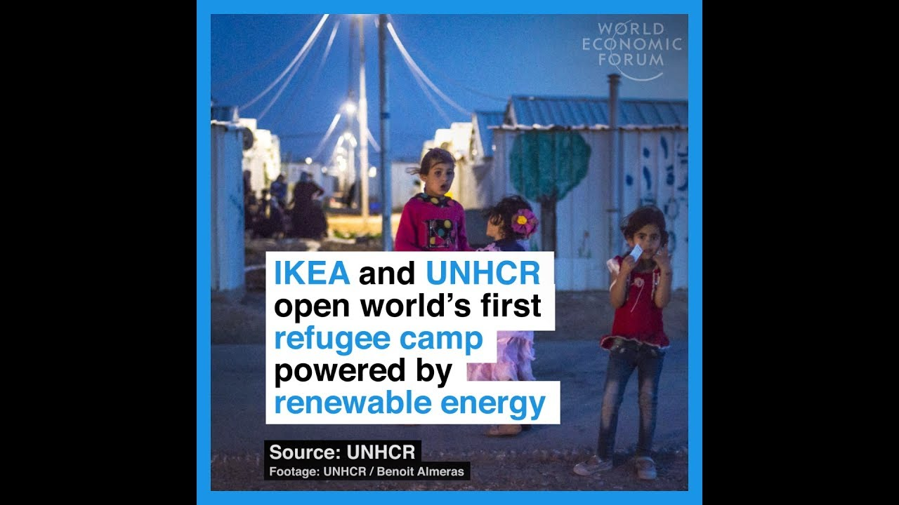 This Syrian refugee camp is powered by solar energy