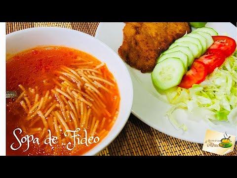Sopa de fideo deliciosa receta