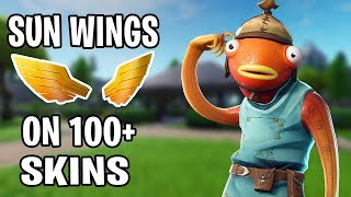 SUN WINGS ON 100+ SKINS! Should You Buy? (FORTNITE SEASON 8)