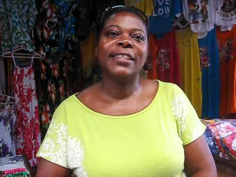 Interview with vendor in Castries Crafts Market